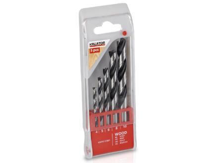 Kreator KRT012301 mèches à bois 4-10 mm set de 5