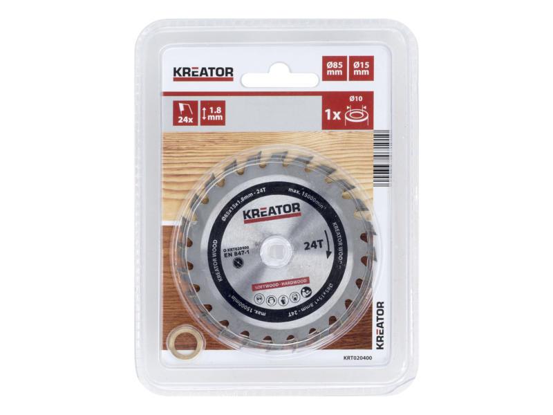 Kreator KRT020400 lame de scie circulaire 85mm 24D bois