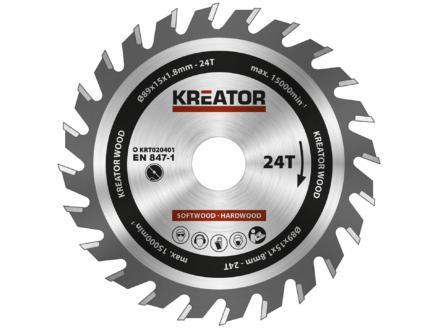 Kreator KRT020401 cirkelzaagblad 85mm 24T hout