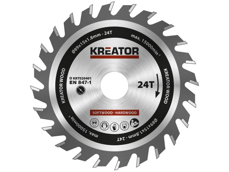 Kreator KRT020401 cirkelzaagblad 89mm 24T hout