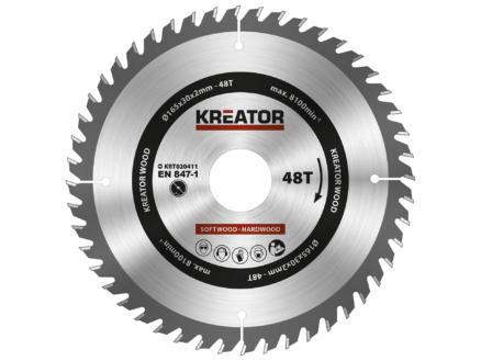 Kreator KRT020411 cirkelzaagblad 165mm 48T hout