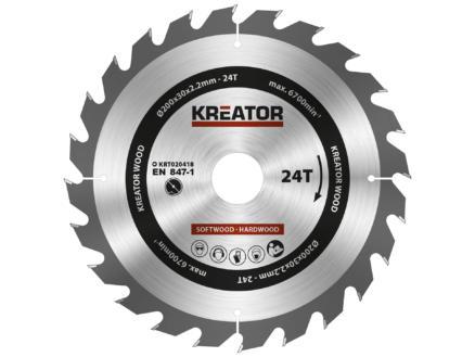 Kreator KRT020418 cirkelzaagblad 200mm 24T hout