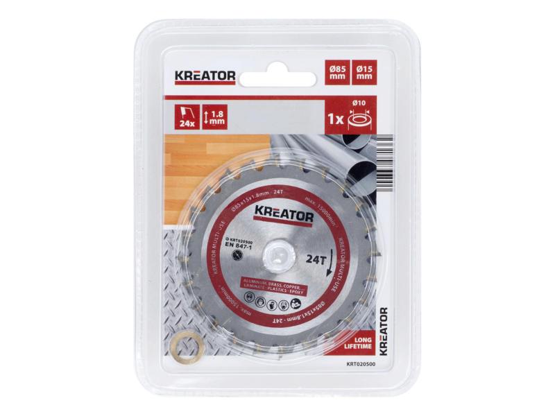 Kreator KRT020500 lame de scie circulaire universelle 85mm 24D