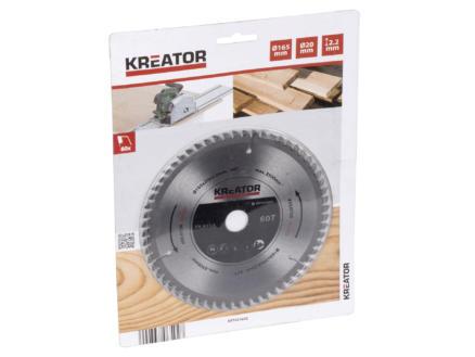 Kreator KRT021602 lame de scie circulaire 165mm 60D bois