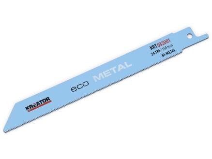 Kreator KRT032001 lame de scie sabre BIM 150mm métal 2 pièces