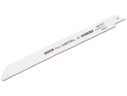 Kreator KRT033001 lame de scie sabre BIM 225mm bois/métal 2 pièces