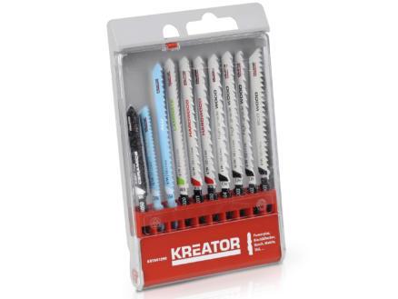 Kreator KRT041090 lames de scie sauteuse set de 10