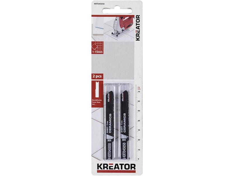 Kreator KRT045050 lame de scie sauteuse U HM 75mm céramique 2 pièces