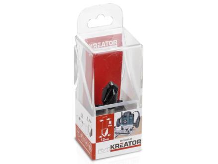 Kreator KRT060140 fraise à rainurer en V carbure 16x12 mm