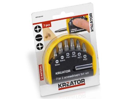 Kreator KRT064100 bitset PH/PZ/SL 7-delig
