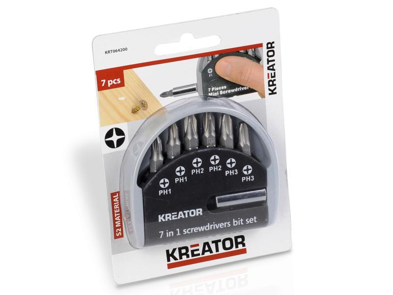 Kreator KRT064200 set d'embouts PH 7 pièces