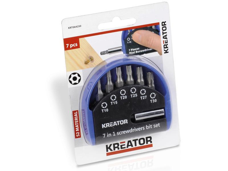 Kreator KRT064250 bitset Torx 7-delig