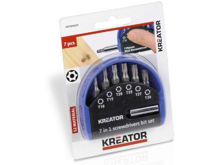 Kreator KRT064250 set d'embouts Torx 7 pièces