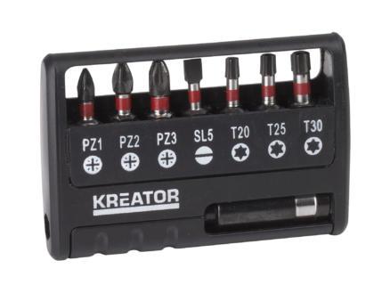 Kreator KRT064262 embouts de vissage impact PZ/TX 8 pièces