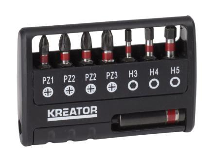 Kreator KRT064263 set d'embouts HX/PZ 8 pièces