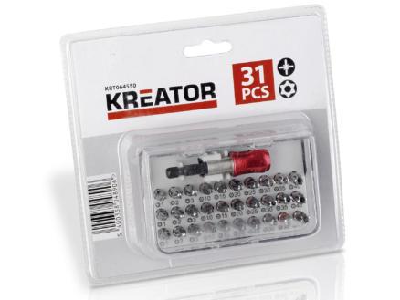 Kreator KRT064550 set d'embouts PZ/TX 31 pièces