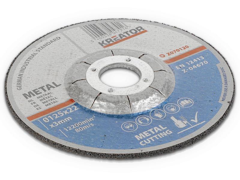 Kreator KRT070120 disque à tronçonner métal 125x3x22 mm 4+2 pièces