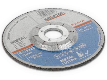 Kreator KRT070120 doorslijpschijf metaal 125x3x22 mm 4+2 stuks