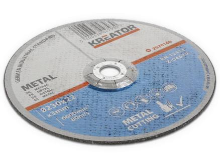 Kreator KRT070160 doorslijpschijf metaal 230x3x22 mm 4+2 stuks