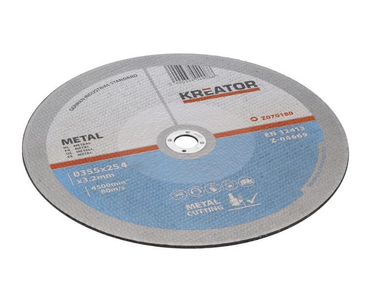 Kreator KRT070180 doorslijpschijf metaal 355x3,2x25,4 mm 2 stuks