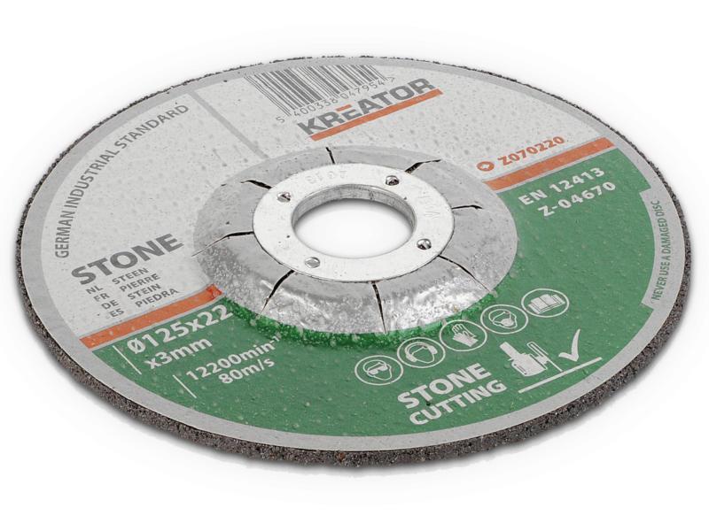 Kreator KRT070220 doorslijpschijf steen 125x3x22 mm
