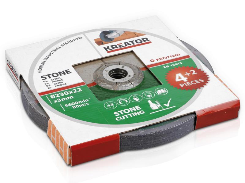 Kreator KRT070260 disque à tronçonner pierre 230x3x22 mm