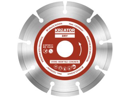 Kreator KRT080101 Eco disque diamant 125x2x22,2 mm droog 3 pièces