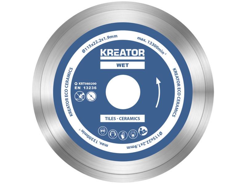Kreator KRT080200 Eco disque diamant 115x,1,9x22,2 mm eau 3 pièces