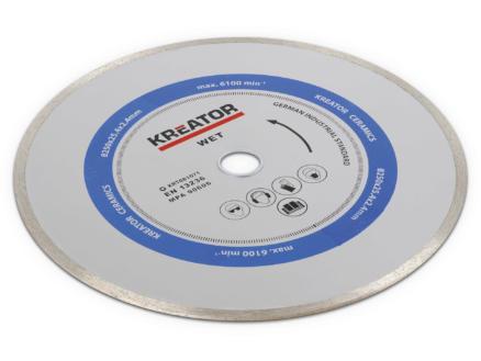 Kreator KRT081071 disque diamant céramique 250x2,4x25,4 mm eau