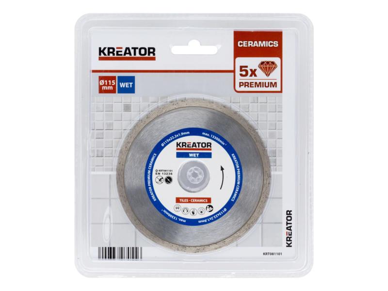 Kreator KRT081101 disque diamant 115x,1,9x22,2 mm eau