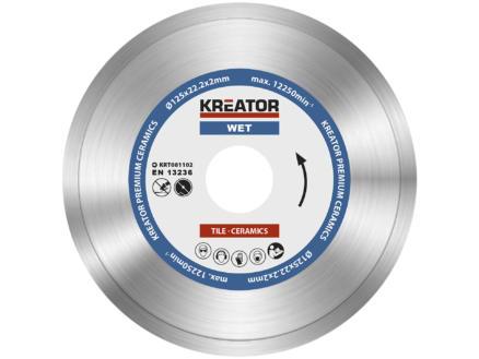Kreator KRT081102 disque diamant 125x2x22,23 mm eau