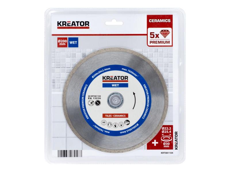 Kreator KRT081104 diamantschijf 200x2,4x30 mm nat