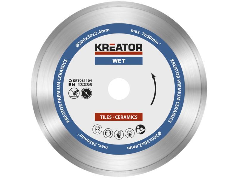 Kreator KRT081104 disque diamant 200x2,4x30 mm eau