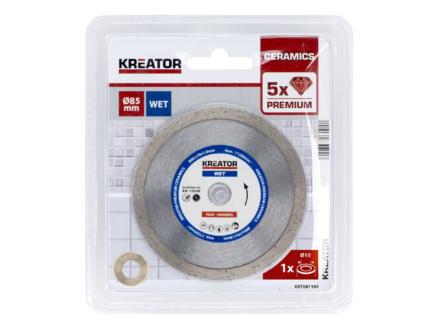 Kreator KRT081105 Premium disque diamant 85x1,8x10 eau