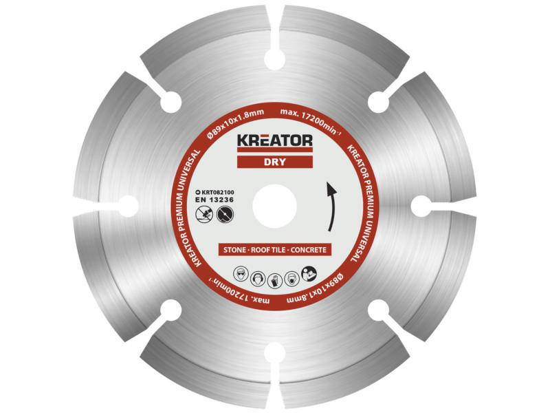 Kreator KRT082100 Premium diamantschijf 89x1,8x10 mm