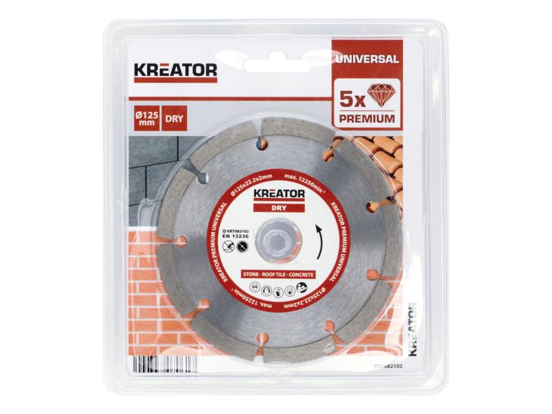 Kreator KRT082102 diamantschijf steen 125x2x22,2 mm droog