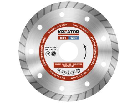 Kreator KRT083100 Turbo disque diamant 115x2,1x22,2mm