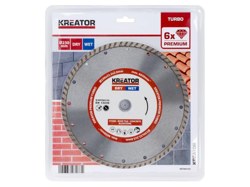 Kreator KRT083102 Turbo diamantschijf 230x2,6x22,2 mm