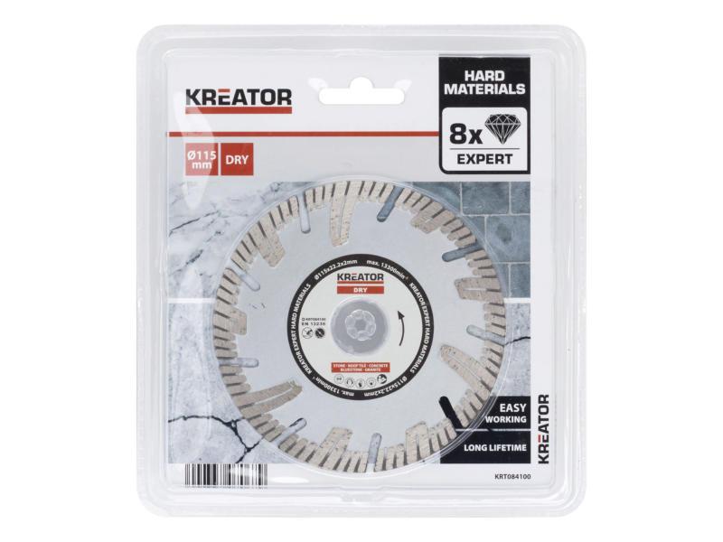 Kreator KRT084100 diamantschijf beton 115x2x22,2 mm droog