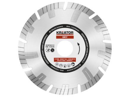 Kreator KRT084101 disque diamant béton 125x2x22,2 mm sec
