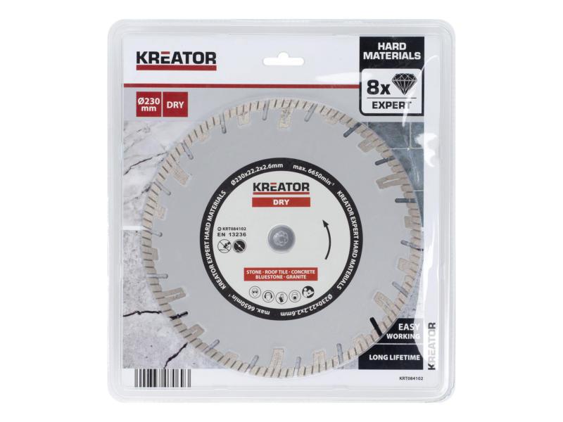Kreator KRT084102 disque diamant béton 230x2,6x22,2 mm sec