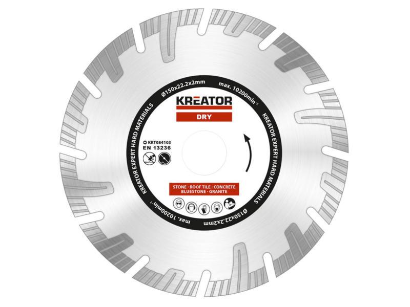 Kreator KRT084103 Expert disque diamant 150x2x22,2 mm