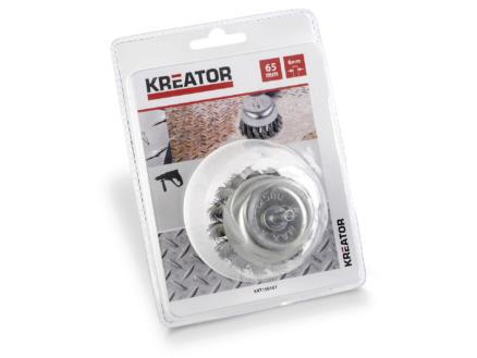 Kreator KRT150107 brosse soucoupe 65mm acier torsadé