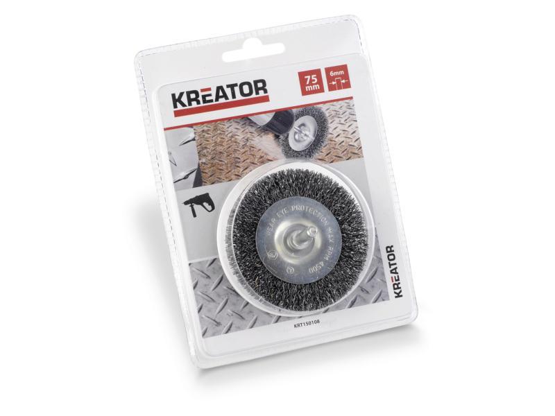 Kreator KRT150108 brosse circulaire 75mm acier