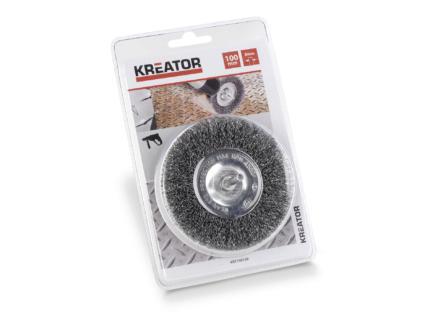 Kreator KRT150109 brosse circulaire 100mm acier