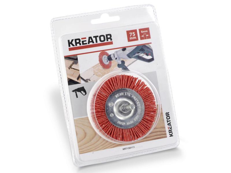 Kreator KRT150111 brosse circulaire 7,5cm nylon