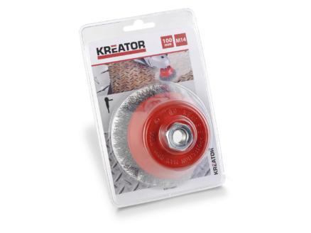 Kreator KRT150201 brosse soucoupe 100mm acier