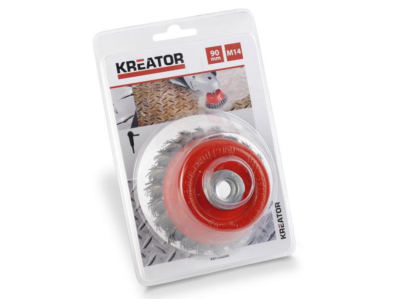 Kreator KRT150204 M14 komborstel 90mm getorst staal
