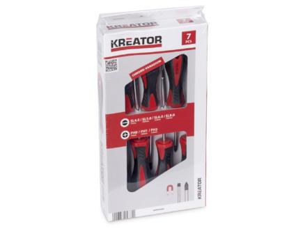 Kreator KRT400002 set de tournevis plat/PH 7 pièces