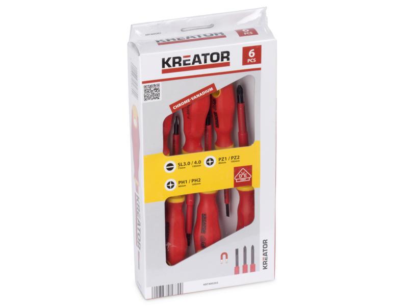 Kreator KRT400202 VDE schroevendraaierset 6 stuks